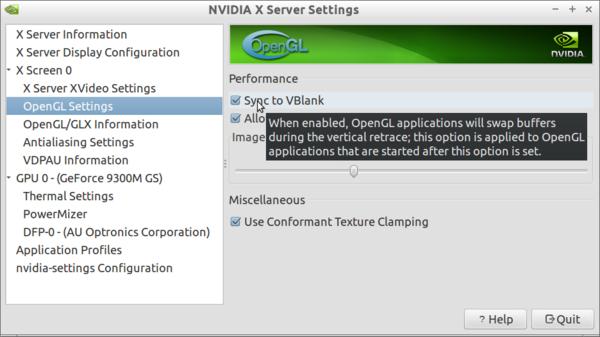 Sync to VBlank NVidia